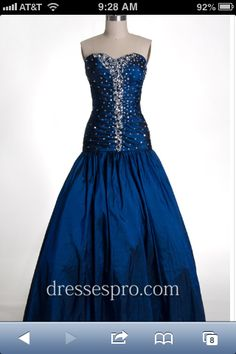 Masquerade dress #blue #dress