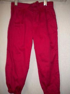 Baby Gap Toddler Size 4 Years Hot Pink Elastic Ankles Adjust Waist Girls Pants #babyGap #Pants #DressyEveryday