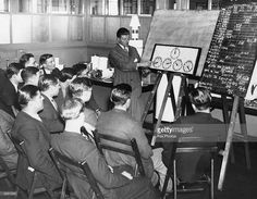 A group of new recruits are taught how to read meters at the Gas, Light and Coke Company College in Fulham, London. Get premium, high resolution news photos at Getty Images London December, Fulham, College, Teaching, Group, News, Image, University