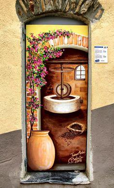 Valloria, Liguria, Italy painted door
