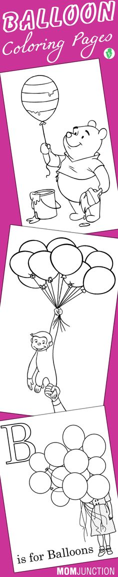 free birthday balloon coloring pages - photo#44