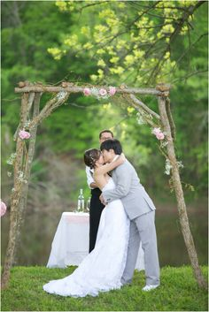 romantic spring wedding portraits - rustic wedding photography, raleigh nc