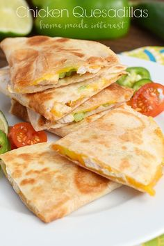 Chicken and cheese melted together inside of a flour tortilla. A simple snack or a quick and easy dinner recipe. #BTFE #ad