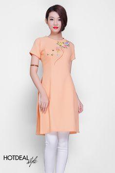 Áo Dài Cách Tân Thêu Tay, Đầm Và Áo Kiểu Thêu Ruy Băng - PK Fashion – Bù Thêm Tiền