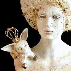 Прямая ссылка на встроенное изображение Sculpture Art, Sculptures, Female Portrait, Art Dolls, Sculpting, Pottery, Figurative, Statue, Texture