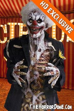 LAST LAUGH the ZOMBIE CLOWN - STUDIO HALLOWEEN COSTUME - NEW for 2015