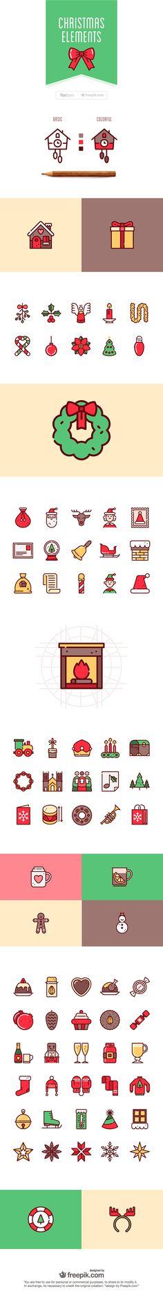 75+ free Christmas vector icons