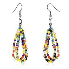 Candy Beaded Drop Earrings