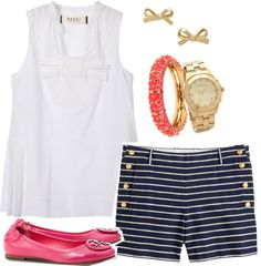 """Day On the Water"" by emmajomcauliffe ❤ liked on Polyvore"