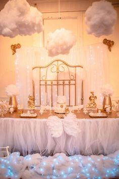 Angel Theme Baby Shower Cake   Heaven Sent Baby Shower Theme - Bing images