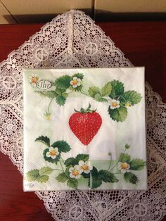 Strawberry napkins by Ideal Home Range.