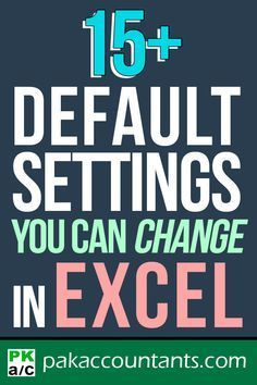 default settings you can change easily in Excel Free Excel tutorials tips an. Microsoft Excel, Microsoft Office Free, Excel Tips, Excel Hacks, Excel Budget, Computer Help, Computer Programming, Computer Tips, Computer Engineering