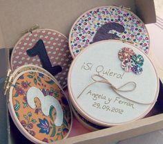 aroruabroches: Bastidores Meseros - decoración para las mesas de boda