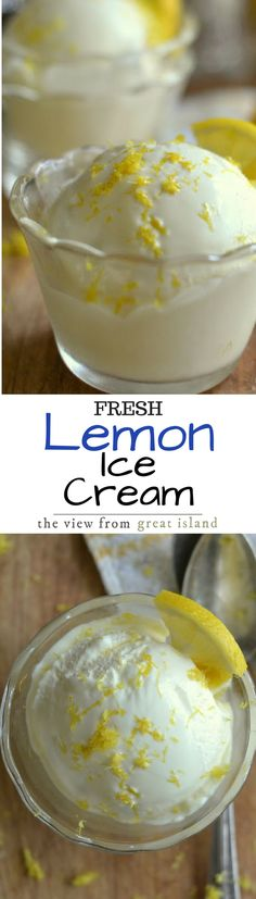 Fresh Lemon Ice Cream is like no other ice cream you've ever had ~ the zippy, tart, citrus flavor is unique and so refreshing!