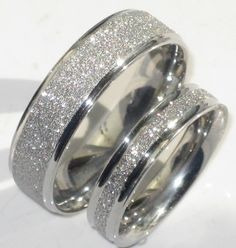 Add Sparkle With A Sandblast Or Stardust Effect To Your Wedding Rings Great Value Sparkle  C2 B7 Female Wedding Bandsmen
