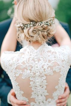 20 Most Romantic Bridal Updos Wedding Hairstyles to Inspire Your Big Day – Oh Best Day Ever sophisticated lace wedding dress and updo wedding hairstyle perfect match  http://www.fashionhaircuts.party/2017/05/10/20-most-romantic-bridal-updos-wedding-hairstyles-to-inspire-your-big-day-oh-best-day-ever-2/
