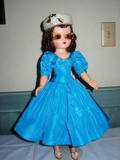 Madame Alexander 1956 brunette Cissy doll in Blue tagged dress   eBay