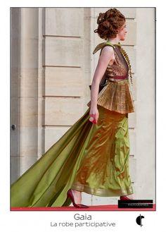 Gaia – Fabienne Dimanov Paris Facon, Gaia, Saree, Sari, Saris, Sari Dress, Half Saree