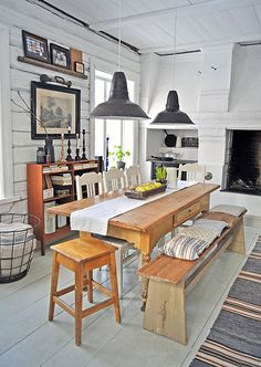Lunda Gard / Aja and Christian Lund {gray and white eclectic rustic vintage modern dining room} | Flickr - Photo Sharing!