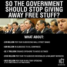 SUBSIDIES... Look it up! Your 6th grader can balance books better than these crooks.
