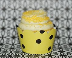 Amazon.com: Vintage Robin's Egg Blue, Yellow Cupcake Wrappers for Baby Shower or Birthday, Confetti Couture Party Supplies, 12: Kitchen & Dining