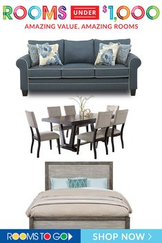 Affordable home furniture for sale from Rooms To Go. Best place to shop online for quality home furniture for less. Outdoor Sofa, Outdoor Furniture, Outdoor Decor, Affordable Furniture Stores, Furniture Sale, Industrial Furniture, Dining Rooms, Bedrooms, Amazing