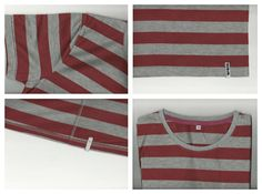 Benja Red and Grey stripe T-Shirt. Buy: 08978239127 / 21e4059b