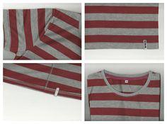 Benja Red and Grey stripe T-Shirt. Buy: 08978239127 / 21e4059b
