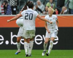 "July 2nd, 2011: Megan Rapinoe scores against Colombia and does her best ""Born In The USA"" impression. 