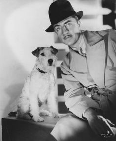 William Powell & Asta.    rumour has it Powell tried to adopt Asta after staring with him...