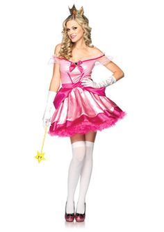 Womens Sexy Princess Peach Costume-Gonna be Princess Peach for family themed Halloween this year  sc 1 st  Pinterest & 47 best Mario u0026 Princess Peach images on Pinterest | Halloween prop ...