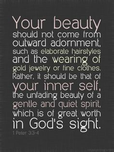 physical beauty to inner beauty