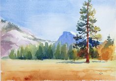 Watercolor Landscape Painting  Tutorial                                                                                                                                                                                 More