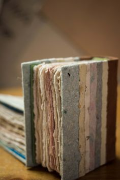 little books - handmade paper and leather