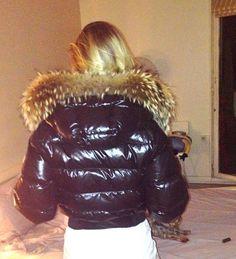 Down Puffer Coat, Down Parka, Down Coat, Moncler, Puffy Jacket, Fur Collars, Fur Trim, Bellisima, Fur Coat