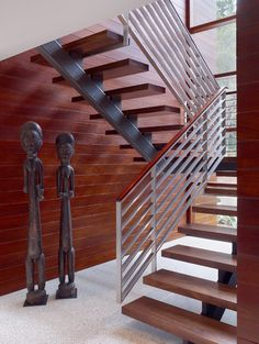 other idea for open living, use open stairs