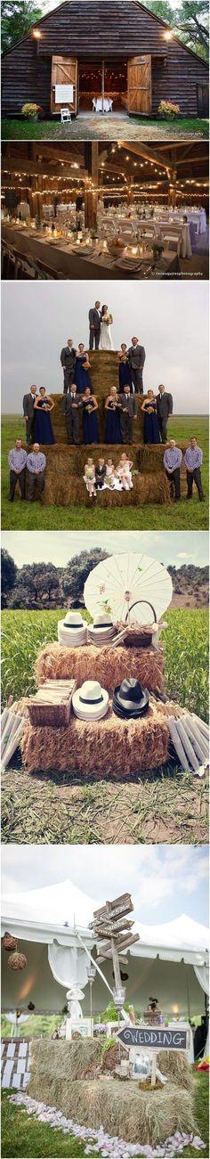 Rustic country farm wedding ideas / http://www.deerpearlflowers.com/gorgeous-ideas-for-country-farm-wedding/2/ #barnweddings