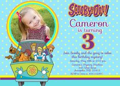 Scooby Doo Birthday Party Invitation  Digital by PrettyPaperPixels, $8.99