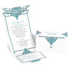 Best of Friends Seal and Send Wedding Invitation - Teal Faux Glitter at Invitations By Dawn