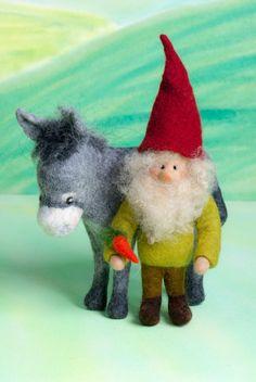 Felted gnome, christmas von lepetitagneau auf Etsy