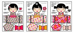 Printable Japanese Dolls by Style My Party www.stylemyparty.co.uk