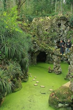 Quinta da Regaleira - you can actually walk across on the tiny stones below | Sintra, Portugal