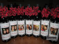 Private Listing for Wedding Bridesmaid Photo Wine Labels - Damask - Personalized Bridesmaid Gifts via Etsy Wedding Send Off, Wedding Gifts For Bridesmaids, Personalized Bridesmaid Gifts, Card Box Wedding, Bridesmaid Bouquet, Personalized Wine, Wedding Ideas, Wedding Stuff, Custom Wine Labels