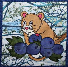 Wood mouse PDF applique quilt block pattern; whimsical child's or baby quilt pattern; forest or woodlands animal quilt applique pattern by MsPDesignsUSA on Etsy