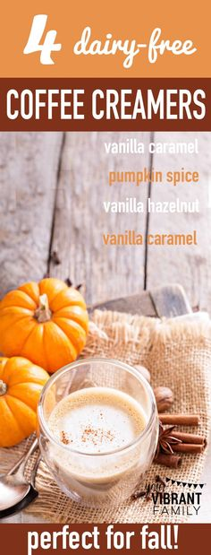 Looking for a healthy coffee creamer recipe perfect for fall? You'll love these non dairy coffee creamer recipes for French Vanilla coffee creamer, Hazelnut coffee creamer, Pumpkin Spice coffee creamer, and Vanilla Cinnamon coffee creamer! If you're glute Healthy Coffee Creamer, Dairy Free Coffee Creamer, Pumpkin Spice Creamer, Vanilla Coffee Creamer, French Vanilla Creamer, Homemade Coffee Creamer, Coffee Creamer Recipe, Pumpkin Spice Coffee, Spiced Coffee