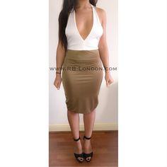 | 'Jasmin' Khaki Bodycon | £26 | Coupon Code: LFW10 | #Khaki #Dress