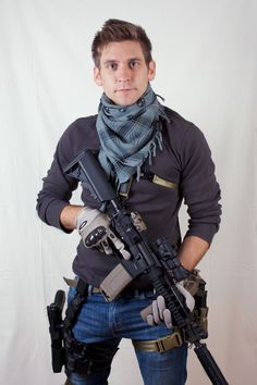 Now this is how I would accessorize with a Skull Shemagh, Oakley Gloves, M4 Assault Riffle ,Glock 17, Magpul MS2 Sling, Costa Style Leg Rig, Blackhawk Serpa Drop Leg Holster