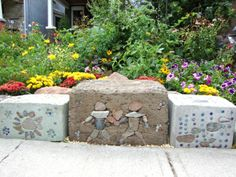 cinder block gardening | In the right garden, though, these childlike patterns would be ...