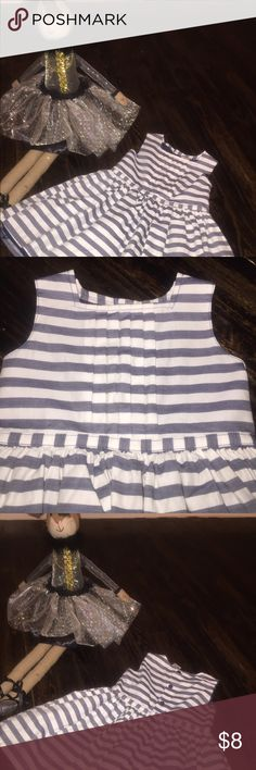 ⭐️NEW Listing⭐️ Carter's Dress Blue and White Spring/Summer Dress...Navy Tulle underskirt...Button Detail on back of dress! Worn once. No stains, Excellent Condition, Pet Free Home. Carter's Dresses