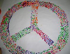 το σήμα της ειρήνης με δακτυλικά αποτυπώματα